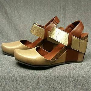 "Pierre Dumas Shoes - Pierre Dumas wedges ""OTBT"" New in box."