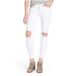 rag & bone Destroyed Skinny Capri Jeans