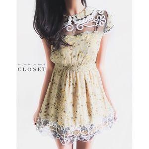 Anna Sui Silk Wild Flower Dress