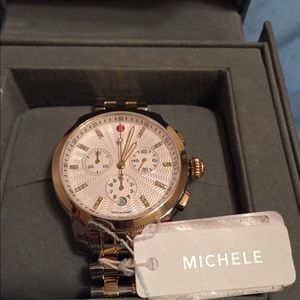 Michele Accessories - 🔥ONE DAY SALE!🔥 Michele two toned Uptown Watch