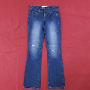 "Dream Out Loud Denim - Distressed Blue Jeans ~ 33"" Inseam"