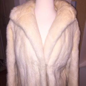 Long White Mink Coat