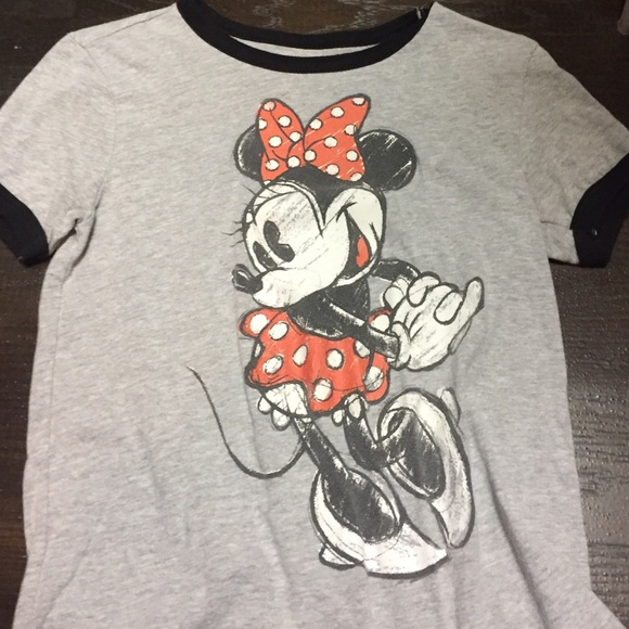 770615e6e3f7 Disney Tops | Minnie Mouse Ringer Tee | Poshmark