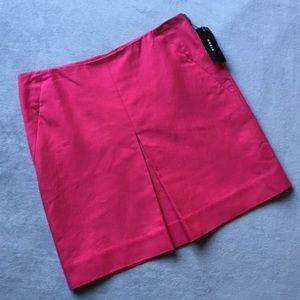Akris Inverted Pleat Mini A-line Skirt - PINK