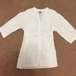 White cotton Guatemalan shirt