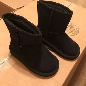 Other - Black Faux Suede Toddler Boots