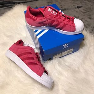 Adidas Shoes - 🚨CLEARANCE🚨Adidas pink suede superstar