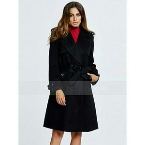 boutique Jackets & Coats - NEW Black Felt Wool Style Coat Stylish Fashion XL