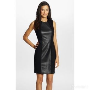 "Cynthia Steffe Dresses & Skirts - Cynthia Steffe ""Emma"" faux leather sheath dress"