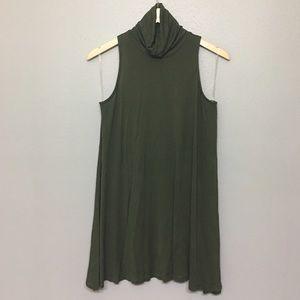 Luxe Sleeveless Tunic/Dress, Hunter Green, M 