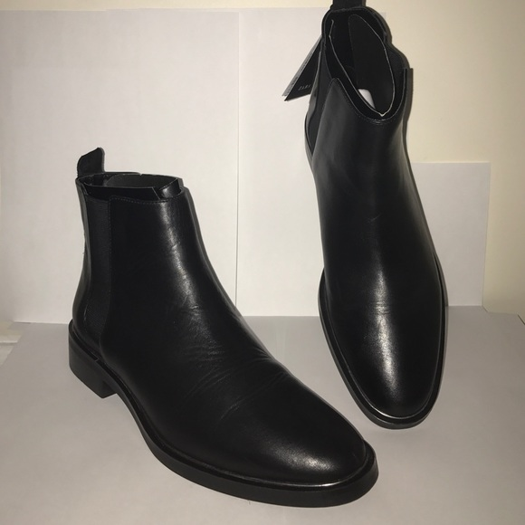 Zara Shoes | Zara Black Leather Chelsea