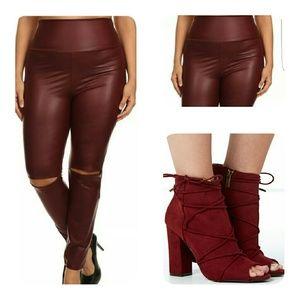 Pants - Faux Leather Leggings (XL, 2X, 3X)