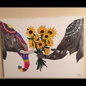 Other - Elephant love painting