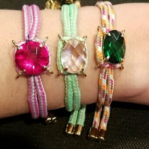 Juicy Couture Jewelry - Juicy Couture Friendship Bracelet - Pink Rhineston