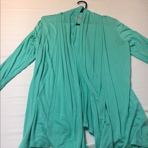 Sweaters - Teal soft cardigan