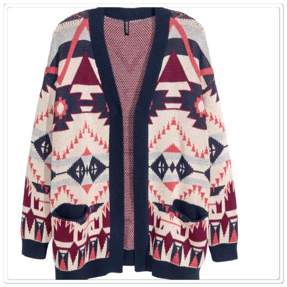 H&M Sweaters - 🆕 Aztec boho cardigan sweater jacket