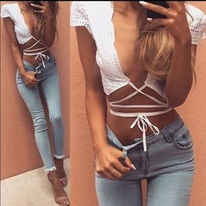 Tops - Tie Strap Crop Top