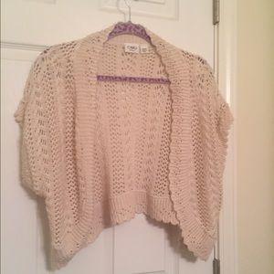 Cato Sweaters - Soft crochet shrug
