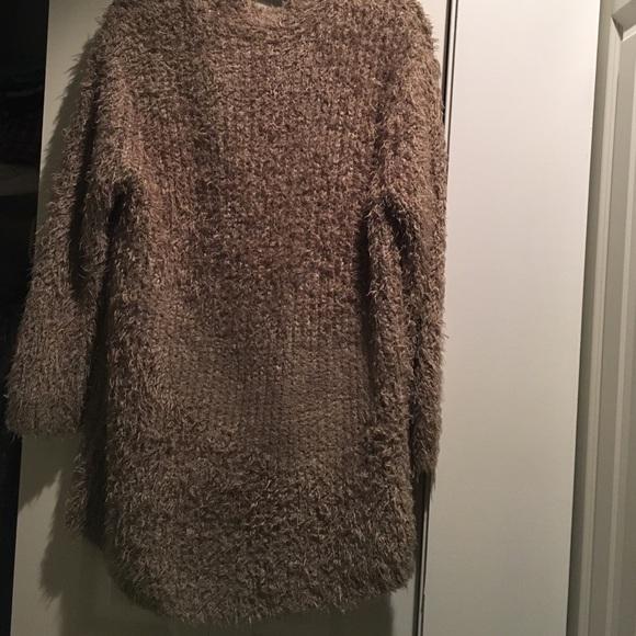 61% off Kensie Sweaters - Kensie Brand Oatmeal Fuzzy Cardigan from ...