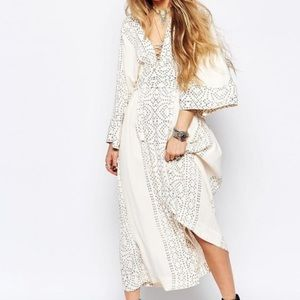 Free People Dresses & Skirts - NWT FREE PEOPLE Ivory Dot Printed Boho Maxi Dress