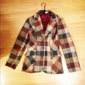Reclaimed Vintage Jackets & Blazers - Vintage plaid blazer