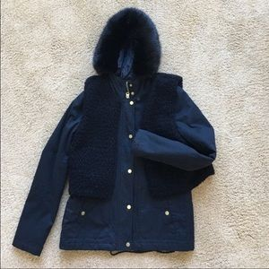 Topshop Jackets & Blazers - Topshop coat with removable hood and vest