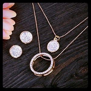 Jewelry - 18K Gold Australian Crystal Circles Jewelry Set