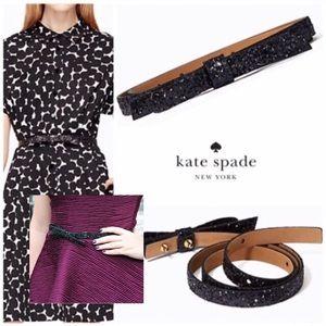 kate spade Accessories - FINAL Large Kate Spade Skinny Glitter Bow Belt