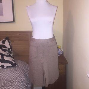 J. Crew A-Line Brown Textured Skirt