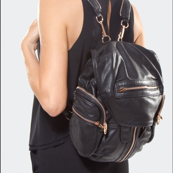 12cda2d36c Alexander Wang Handbags - Alex Wang Marti black with rose gold Backpack