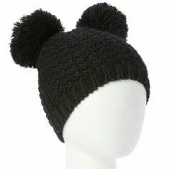 825cd28f76a ❄Winter Double Pom Ears Kylie Hat Beanie crochet