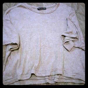 Brandy Melville Tops - Brandy Melville wool cropped blouse.