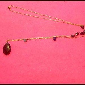 Jewelry - Smoky Quartz/Garnet/Labradorite/Sapphire Necklace
