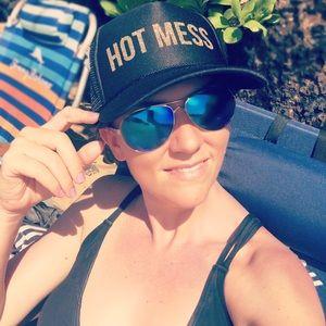 Hot Mess Trucker Hat    in MAROON