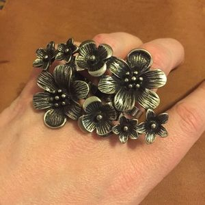 Pamela Love Jewelry - BNWT: silver ox floral knuckle ring - adjustable