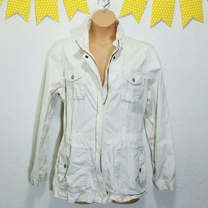 Old Navy Jackets & Blazers - Old Navy Utility Jacket Cinch Waist Off White XXL