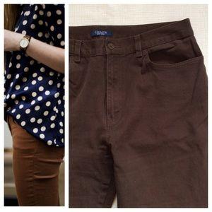 Chaps Pants - CHAPS Brown Jeans