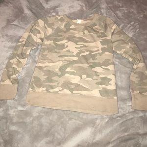 Mossimo Supply Co Tops - Army Crew Neck Sweatshirt