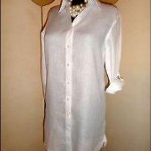 Thomas Pink Tops - Thomas Pink white linen button down