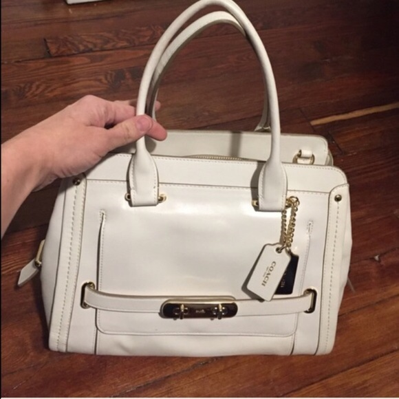 Coach Bags | Swagger Frame Satchel In Calf Leather Chalk | Poshmark