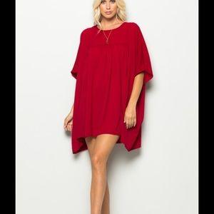 Dresses & Skirts - 🔥 Red Babydoll Tunic Dress 🔥
