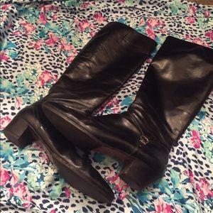 Ferragamo Shoes - Designers Black Leather Boots