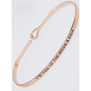 """Hannah Beury Jewelry - """"I love you to the moon & back"""" Bracelet-ROSE GOLD"""