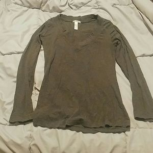 Ambiance Apparel Tops - Grey shirt