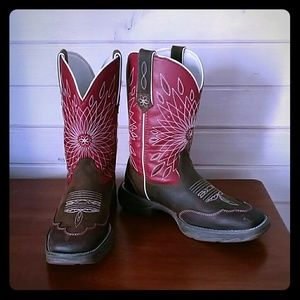Durango Shoes - DURANGO WESTERN SQUARE TOE LEATHER BOOTS (offers )