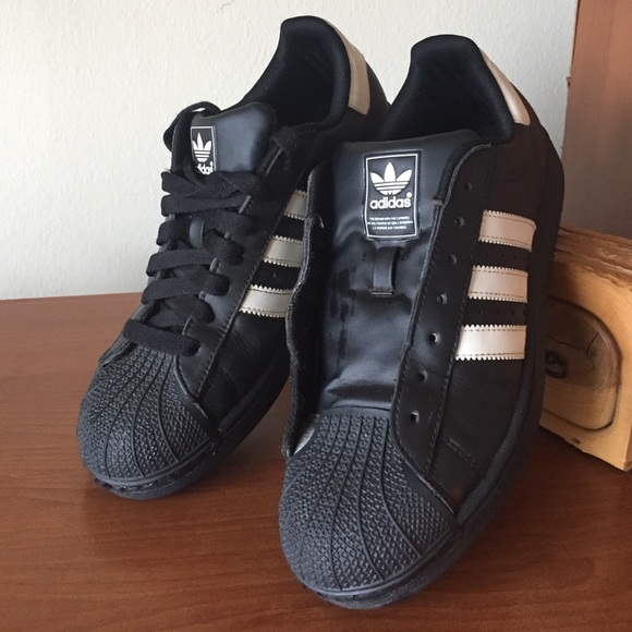 c4f88076d0c Adidas Shoes - Adidas Black white Stripes Shell Top Sneakers