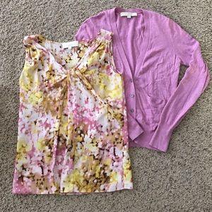 LOFT Tops - LOFT Blouse & Cardigan Set