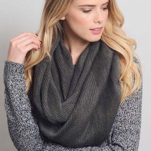 NIP Gray Diagonal Stripe Knit Infinity Scarf