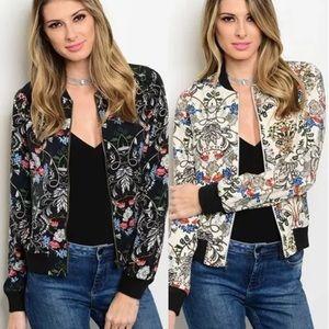 Jackets & Blazers - Cute flowered bomber jacket