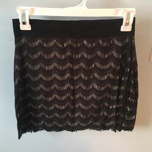 Flirty lacey mini Free People skirt